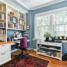 Traditional Home Office by Arlington Construction Management
