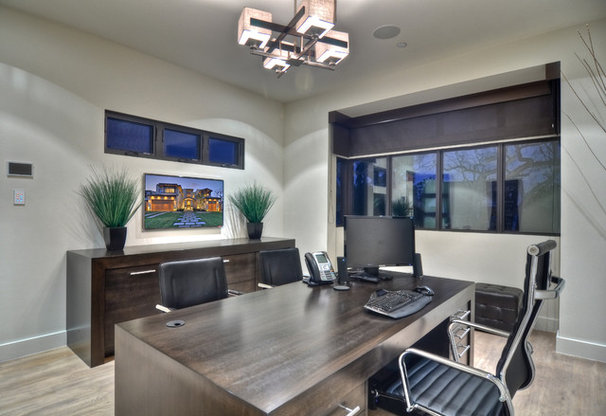 Contemporary Home Office by Brandon Architects, Inc.