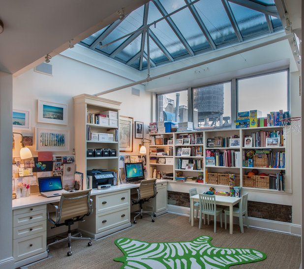 Transitional Home Office by Simon-Wallace Design Inc.