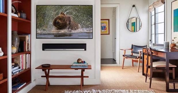 Scandinavian Home Office by DSCMI Smart Home Control