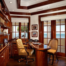 Traditional Home Office by Pinto Designs and Associates