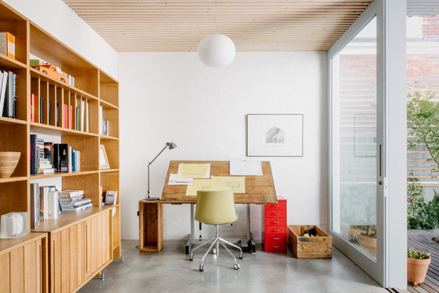 Contemporary Home Office by Topology Studio