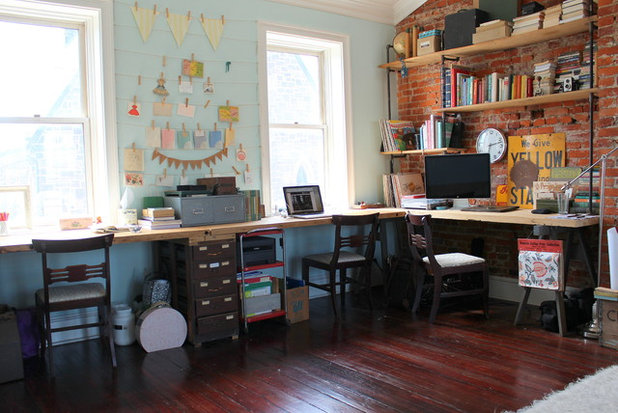 Shabby-chic Style Home Office by Sara Bates