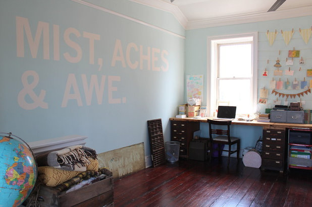 Eclectic Home Office by Sara Bates