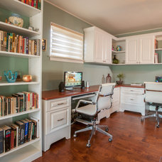 Traditional Home Office by Nanette Baker of Interiors by Nanette, LLC