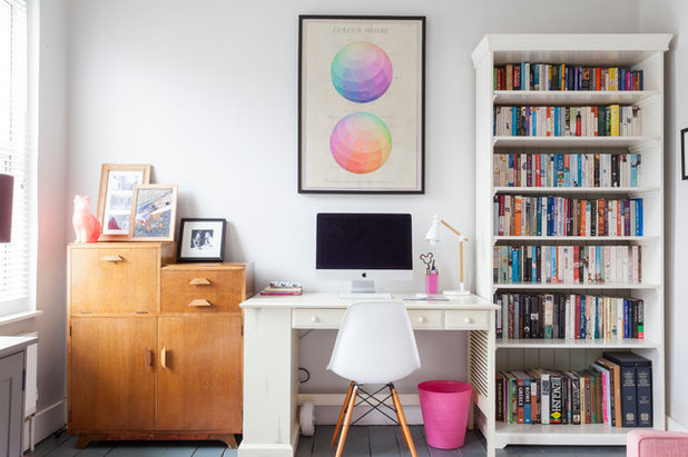 Eclectic Home Office & Library by Chris Snook