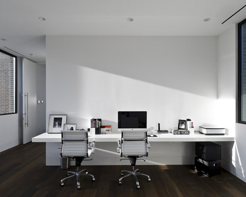 Houzz modern home office design ideas remodel pictures for Office design houzz