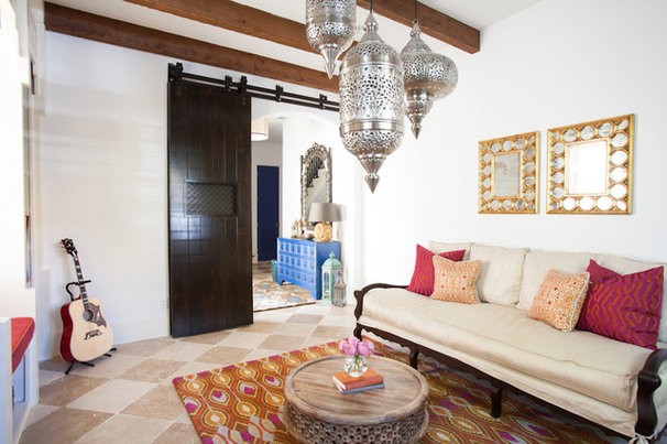 Mediterranean Home Office by Laura U, Inc.