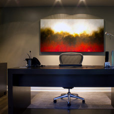 Contemporary Home Office by ZWADA home