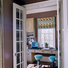 Traditional Home Office by Margaret Donaldson Interiors