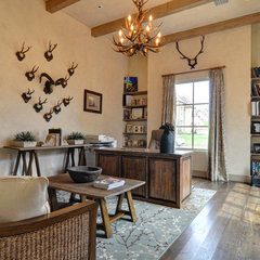 eclectic home office by Braswell Homes Inc