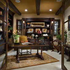 Mediterranean Home Office by David-Michael Design,Inc.