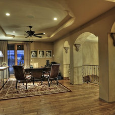Mediterranean Home Office by Integrity Luxury Homes