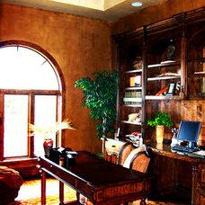 Mediterranean Home Office by Alberto Jauregui Designs, Inc.