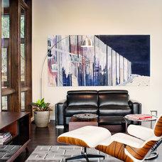 Contemporary Home Office by Shoberg Custom Homes