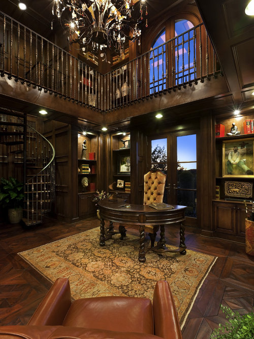 Dark wood library ideas pictures remodel and decor for Home library study design ideas
