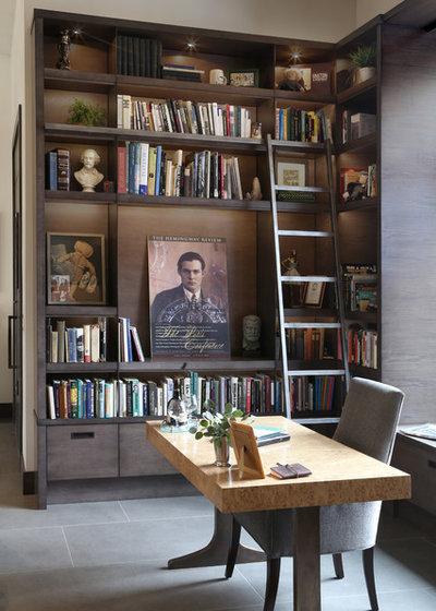 Contemporain Bureau à domicile by Cornerstone Design