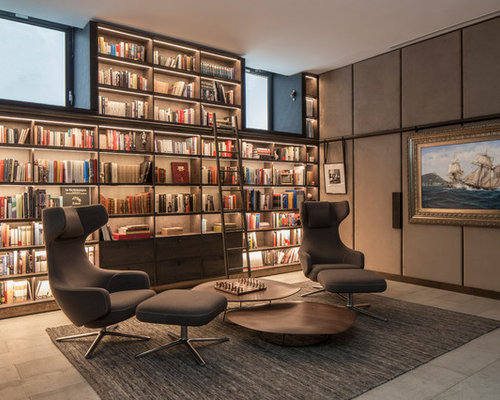 home office library ideas. This Is An Example Of A Medium Sized Modern Home Office And Library In London With Ideas U