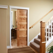 Traditional Home Office by Stallion Doors and Millwork