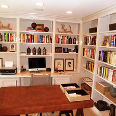 Eclectic Home Office by Fredriksen Custom Woodworking