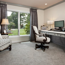 Traditional Home Office by StarrMiller Interior Design, Inc.