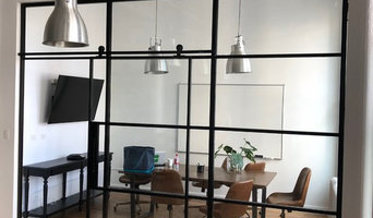 Steel &Glass Office Space with Suspended  Door