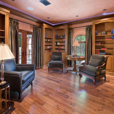 Mediterranean Home Office by Keesee and Associates, Inc.