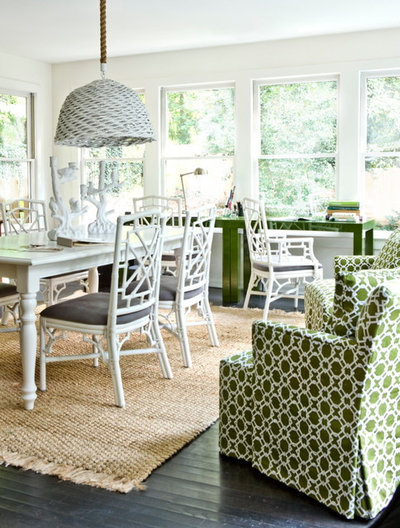 Beach Style Home Office By Erica George Dines Photography
