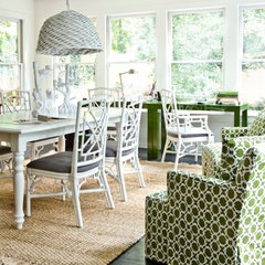 eclectic home office by Erica George Dines Photography
