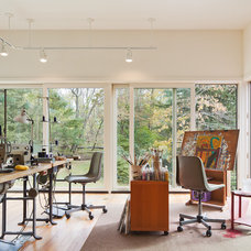 Contemporary Home Office by Brett Webber Architects, PC