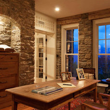 Traditional Home Office by Morgan-Keefe Builders, Inc.