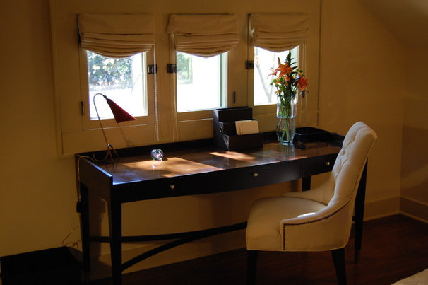 Traditional Home Office by J. Scott Interiors and The Well Dressed Window