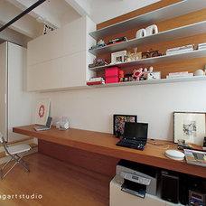Contemporary Home Office by Poliform|sagartstudio