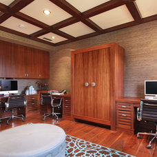 Contemporary Home Office by Jeri Koegel Photography