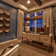 Transitional Home Office by Falcone Homes