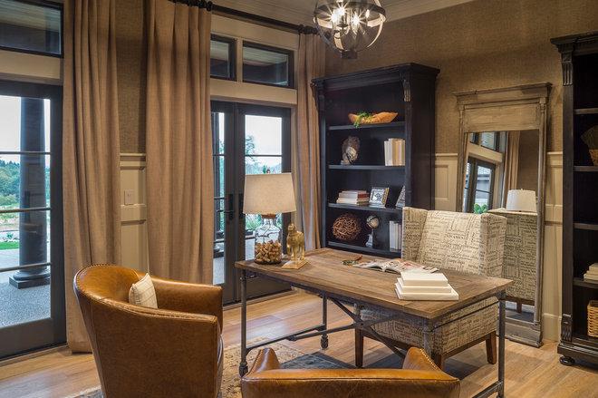Transitional Home Office by Alan Mascord Design Associates Inc