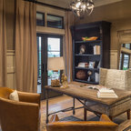 Lake View Luxury Home Transitional Home Office