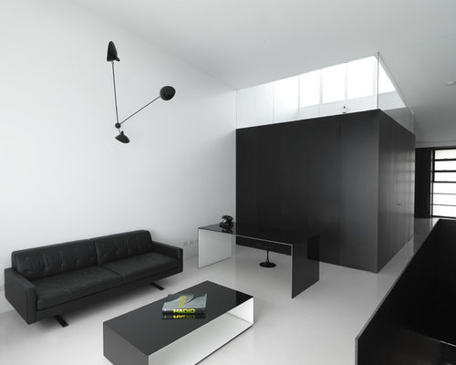 Minimalist interior design ideas houzz for Modern minimalist office design