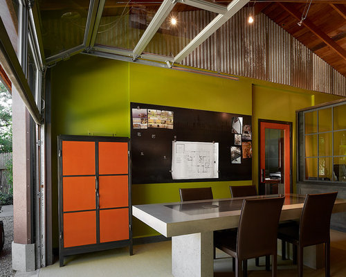 Awe Inspiring Garage Home Office Design Ideas Remodel Pictures Houzz Largest Home Design Picture Inspirations Pitcheantrous