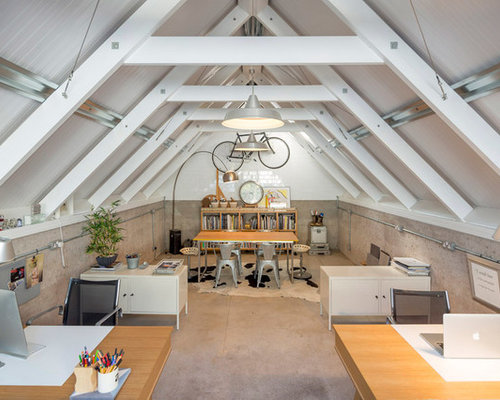 attic desk ideas - Converted Swimming Pool