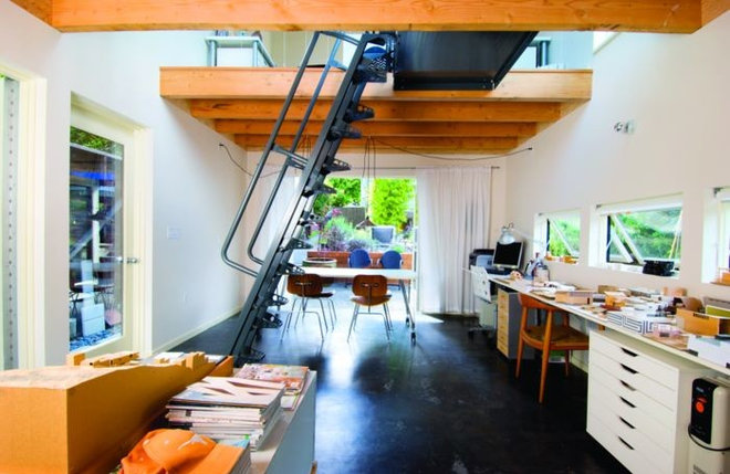 Contemporary Home Office by Robert Hutchison Architecture