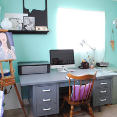 eclectic home office by Kristine Toward