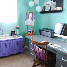 Eclectic Home Office by Kristine Palmer