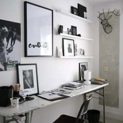 eclectic home office by Vosgesparis
