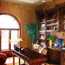 Mediterranean Home Office by Asomoza Homes - Design Build