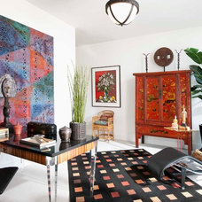 Eclectic Home Office by Chambers Interiors & Associates, Inc.