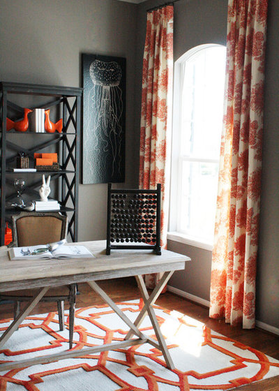 Rustic Home Office by Cristi Holcombe Interiors, LLC