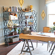 Eclectic Home Office by Cristi Holcombe Interiors, LLC