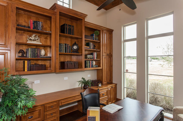 Traditional Home Office by David Mills Custom Homes
