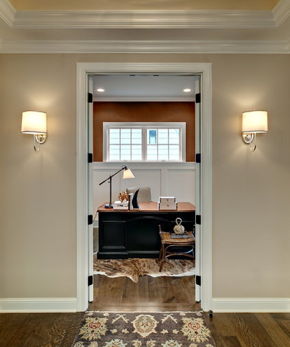 Traditional Home Office by Design By Lisa